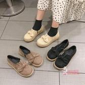 娃娃鞋 秋冬季新款日系女蝴蝶結平底單鞋深口森女瑪麗珍鞋復古娃娃鞋 3色35-40