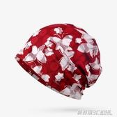 帽子女夏季包頭帽透氣薄款蕾絲頭巾帽光頭化療堆堆帽孕婦帽月子帽   英賽爾3C