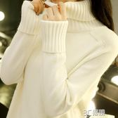 高領毛衣女秋冬新款正韓寬鬆套頭學生內搭針織打底衫加厚百搭 3C優購