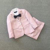 韓版男童西裝套裝2018新款兒童婚禮服休閒嬰兒周歲時尚西服夏季