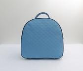 《高仕皮包》KIUS蝴蝶結壓紋後背包-藍