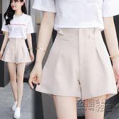 新款百搭休閒短褲女夏季高腰顯瘦修身雪紡闊腿寬鬆a字熱褲 衣櫥の秘密