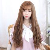 整頂假髮(長髮)-韓風甜美玉米燙女假髮2色73ef5[時尚巴黎]