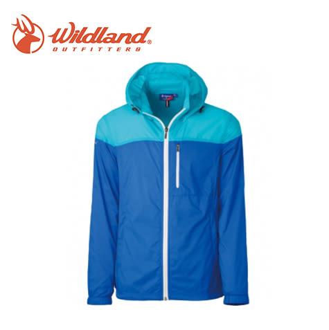 丹大戶外【Wildland】荒野 男RE彈性抗UV透氣輕薄外套 0A31992-77 中藍色