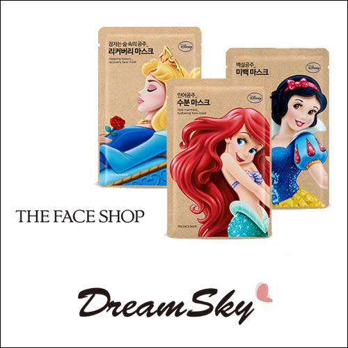 韓國 THE FACE SHOP X Disney 迪士尼 公主 系列 面膜 保濕 亮白 修護(25g/片) DreamSky
