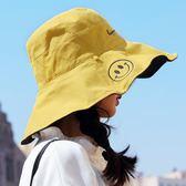 遮陽帽漁夫帽女日系雙面寬檐防曬遮陽帽子女大沿韓版潮百搭網紅太陽帽夏 貝芙莉