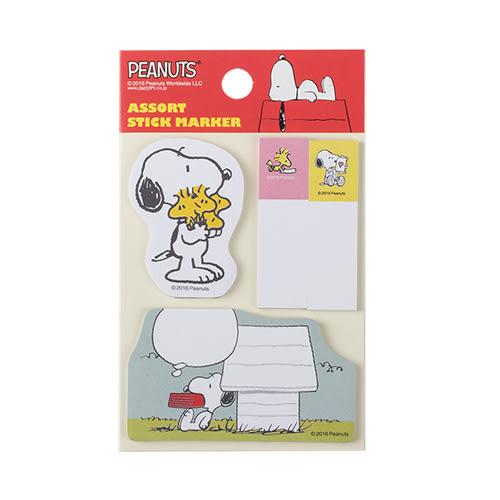 《sun-star》SNOOPY造型自黏便利貼(狗屋)★funbox生活用品★ UA49234