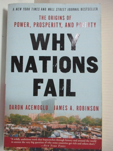 【書寶二手書T7/社會_C9W】Why Nations Fail_Acemoglu, Daron/ Robinson, James A.