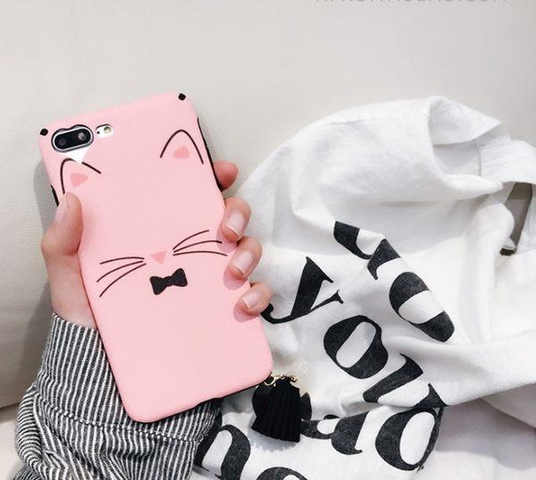 iPhone7/ 6s /plus可愛 貓咪 手機殼 創意 個性 日韓國 潮女款
