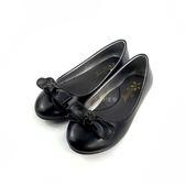 簡約大方蝴蝶結 軟皮面  氣質公主鞋《7+1童鞋》C677黑色