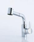 【麗室衛浴】瑞士原裝  KWC DIVO 10.051.003.000  鉻色廚房L型伸縮龍頭2段式水流變化   (樣品一支出清)
