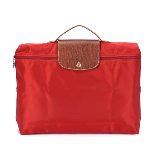 LONGCHAMP經典尼龍摺疊方形手提包(紅色) 480103-3