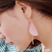 甜美蝴蝶翅膀耳環 【櫻桃飾品】【10593】