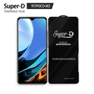 Super-D 小米 紅米 9T/POCO-M3 彩色全覆蓋鋼化玻璃膜 全膠帶底板 手機螢幕貼膜 防刮防爆