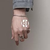 銀手鍊男個性單身簡單大方手環男士手飾品【Kacey Devlin】