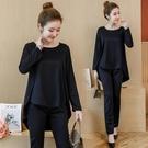 套裝 微胖妹妹MM洋氣套組大尺碼女裝好康推薦秋裝新品減齡寬鬆顯瘦長褲兩件式