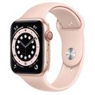 Apple Watch S6 LTE 44mm 金色鋁金屬-粉沙色運動型錶帶【現貨 你的健康心生活】