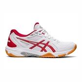 Asics Gel-rocket 10 [1072A056-100] 女鞋 羽球鞋 排球鞋 透氣 包覆 亞瑟士 白 紅