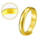 越南沙金男士18K金仿真假黃金戒指鍍金歐幣飾品首飾【父親節禮物】