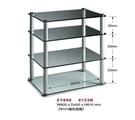 展藝 Zhanyi ZY-800 多功能透明玻璃高級四層音響架/(強化安全玻璃+鋁合金)