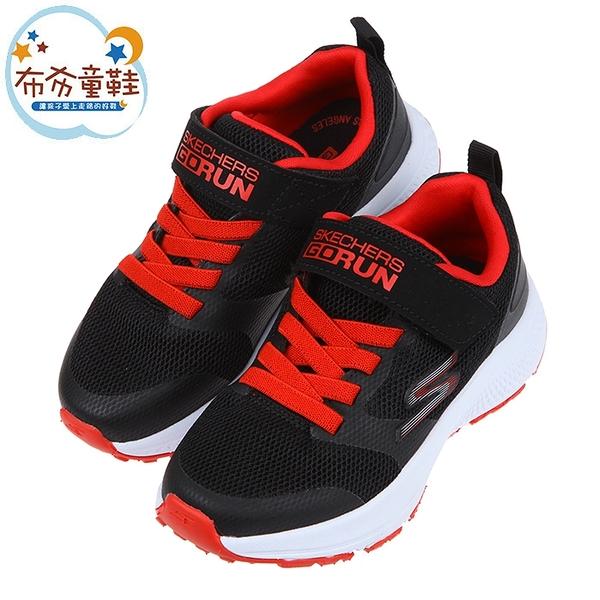 《布布童鞋》SKECHERS_GORUN_CONSISTENT個性透氣黑紅色兒童機能運動鞋(17~23公分) [ N1E016D ]