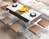 升降茶几 茶幾簡約小戶型長方形鋼化玻璃可伸縮儲物多功能升降茶幾餐桌兩用 MKS克萊爾