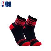 NBA 平版襪 MIT 運動配件 NBA緹花短襪短襪(黑/紅)