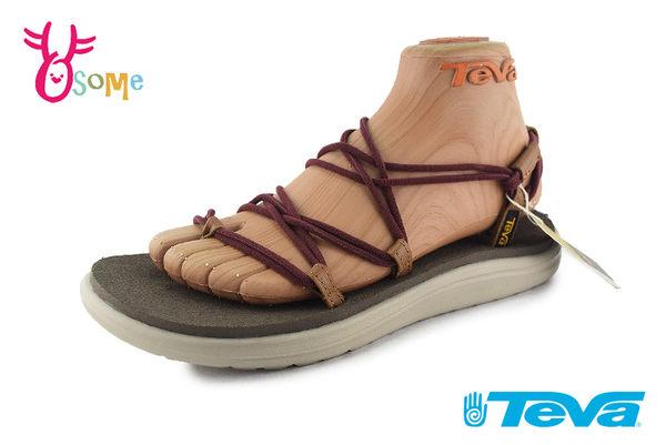 TEVA VOYA INFINITY 成人女款 休閒織帶涼鞋 羅馬鞋 J6325#咖啡◆OSOME奧森鞋業