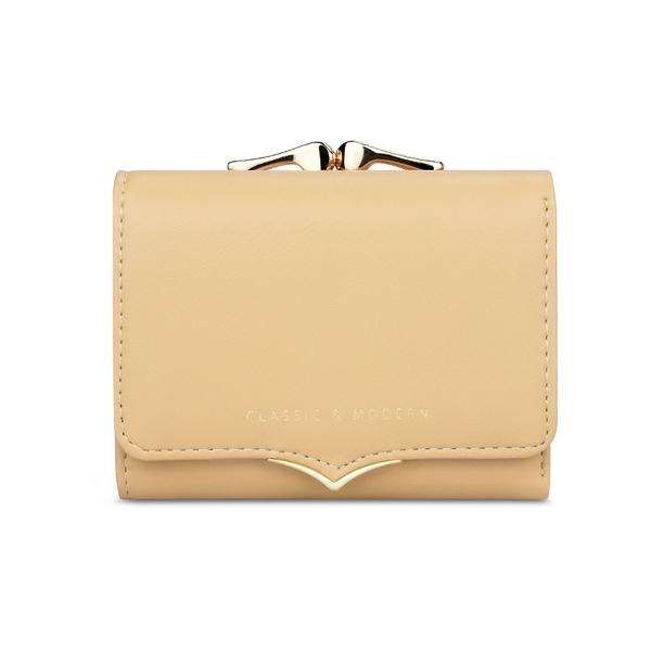 女士短款錢包 女生短夾 韓版短款女士錢包時尚簡約 清新三折夾子零錢包女 女士短款錢夾皮夾