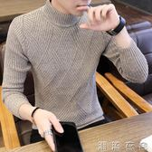 新款秋冬季毛衣男士韓版半高領保暖針織衫加絨加厚潮流線衣服  潮流衣舍