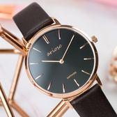 【人文行旅】Arioso | AR1709P 輕時尚真皮錶帶經典腕錶