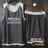圓領雙面穿籃球服套裝男mj3394【極致男人】