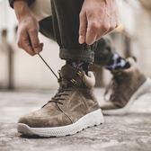 休閒鞋 冬季運動休閑鞋男真皮高幫鞋防滑厚底鞋子男潮鞋跑步鞋