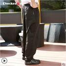 廚師褲廚房工作褲酒店制服褲子餐廳Checkedout服務員廚師工作褲