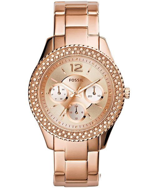 Fossil ES3590 Women's Quartz Stainless Steel Dress Watch, Color:Rose Gold-Toned