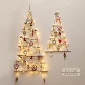 聖誕節擺件 圣誕節掛件圣誕樹上掛飾木質三角形吊件擺件商場櫥窗裝飾道具用品耶誕-三山一舍