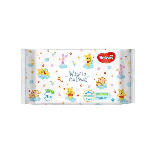 好奇純水嬰兒濕巾小熊維尼限定版加厚型70抽【寶雅】