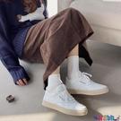 小白鞋 網紅帆布小白鞋女冬加厚棉鞋2021新款韓版學生百搭板鞋潮 寶貝計畫 618狂歡