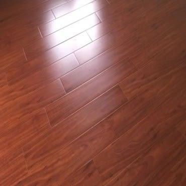 特力屋耐磨木地板紅檀木色0.5坪