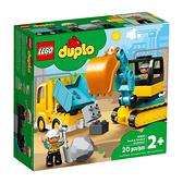 LEGO 樂高 Duplo 得寶系列 10931 卡車&挖土機 【鯊玩具Toy Shark】