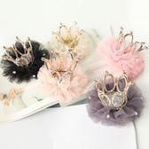 正韓兒童髮夾頭飾女童公主頭花立體皇冠髮卡女孩頭飾表演