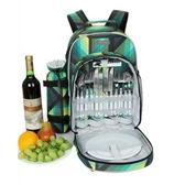 野餐包 含2人餐具組-保溫保冷堡熱登山露營郊遊雙肩後背包68ag1[時尚巴黎]