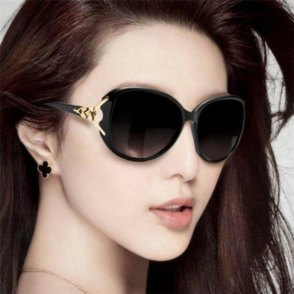 太陽鏡 墨鏡 太陽眼鏡  2019時尚新款狐貍頭女士明星款大框太陽眼鏡爆款(即將恢復原價)