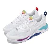 Puma 休閒鞋 X-Ray Lite Rainbow 白 藍紅 男女鞋 鴛鴦 運動鞋 【ACS】 36886302