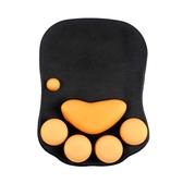 電腦貓爪護腕滑鼠墊可愛女生手托加厚硅膠創意個性萌物辦公手腕墊