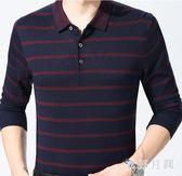 中大尺碼爸爸長袖t恤中年男士秋裝薄款中老年外穿sd2212【衣好月圓】