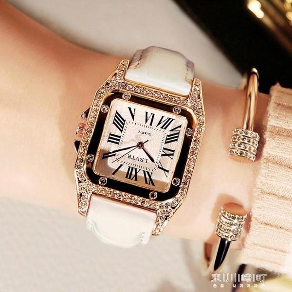 手錶女-女士手錶防水時尚款休閒簡約流水鑽大氣手錶女學生 東川崎町