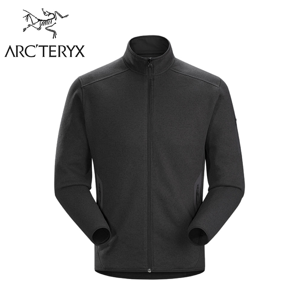【ARC TERYX 始祖鳥 男 Covert刷毛外套《黑灰》】24089/刷毛外套/中層衣/保暖外套