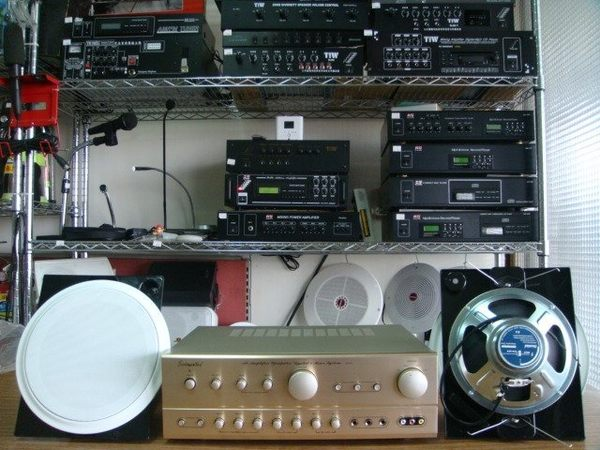VITECH 廣播綜合擴主機 卡拉OK擴大機 80W*80W含高功率崁入式20w喇叭.烤漆面板組合5