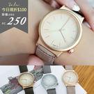 Leisure.香港FEIFAN。線條刻度寬帶橫條紋皮革錶帶手錶【ta515】*911 SHOP*
